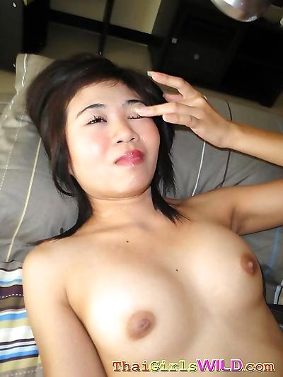 Asian pang fucks then takes..