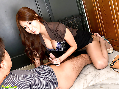 Finger fucking her wet twat..