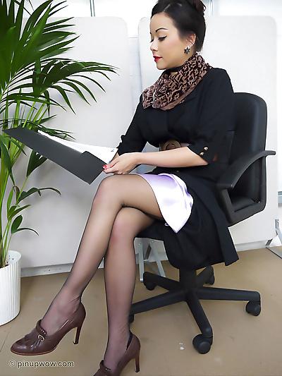 Wonderful Asian secretary..