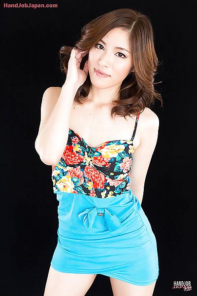 Beautiful Asian girl on her..