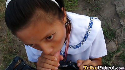 Young Filipino schoolgirl..