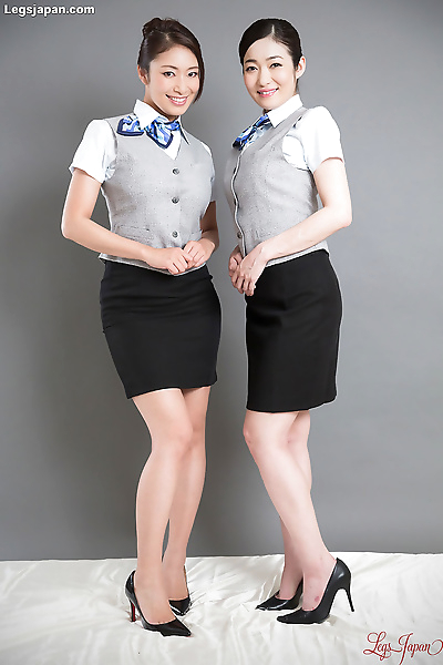 Hot japanese stewardess get..
