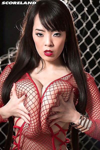 Busty big tits hitomi posing..
