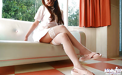 Seductive asian babe with..