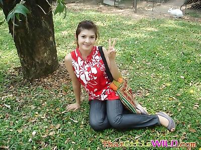 Thai gf posing in different..
