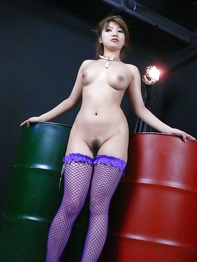 Japanese in purple stockings..
