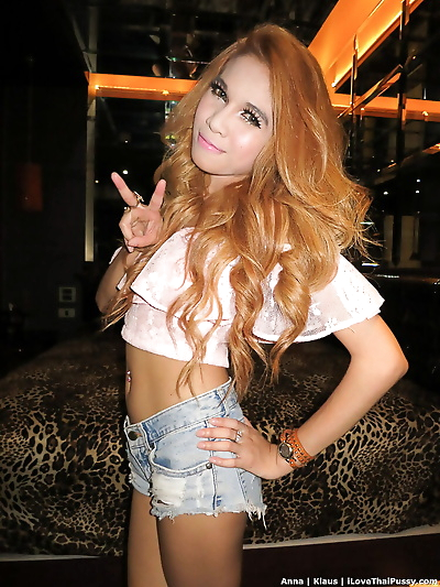Tiny Thai redhead with long..