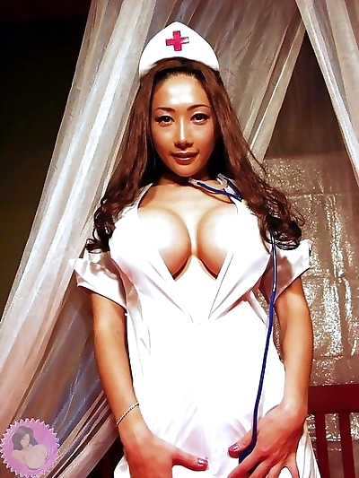 Busty asian nurse sakura sena plays with big boobs - part 4224