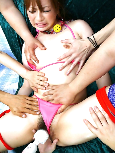 Japanese cougar Yukina Momose is groped and masturbated against her will